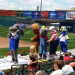 Mascots on the Dugout
