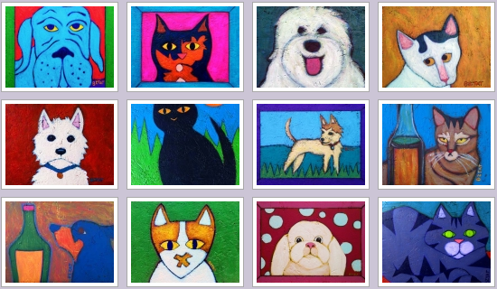 Bztat Pet Folk Paintings