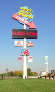 Worlds Largest Truckstop Sign